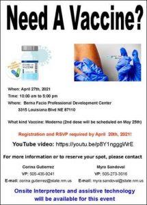 Vaccine Event Flyer