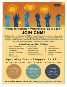 ASL Event at CNM