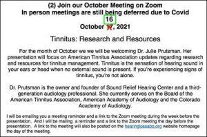 HLAA Albuquerque Meeting @ Zoom Meeting